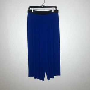 ZARA WOMAN Ladies Blue Pleated Palazzo Trousers